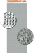 Vliegengordijnenexpert Venetië - Vliegengordijn - 100x240 cm - Transparant met zilveren kern