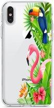 Apple Iphone 6 Plus / 6S Plus Transparant siliconen hoesje (Jungle)