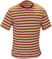 Oeteldonk dorus shirt | rood - wit - geel | Maat XL