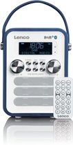Lenco PDR-050 - DAB+ Radio met Subwoofer, Bluetooth en AUX - Blauw