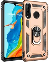 Teleplus Huawei P30 Lite Vega Ringed Tank Cover Case Rose Gold hoesje