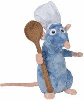 Pluche rat knuffel Remy Ratatouille met lepel 30 cm groot