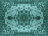 Vinyl Vloerkleed   Persia Turquoise   140x195cm