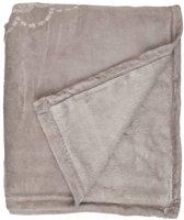 Unique Living Bloem - Fleece - Plaid - 130x160 cm - Pebble