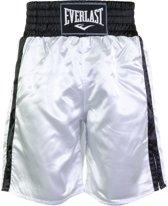 Everlast Pro Boxing Short  Boksbroek - Maat XL  - Unisex - wit/zwart