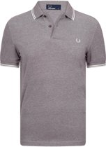 Fred Perry Twin Tipped Sportpolo casual - Maat S  - Mannen - paars/ wit