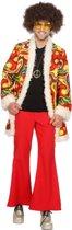 Hippie Kostuum | Hippie Jimmy Eindeloze Gitaarsolo | Man | Maat 58 | Carnaval kostuum | Verkleedkleding