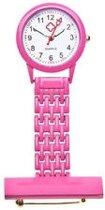 Verpleegster horloge Classic- metaal- ROZE