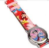 Charme Bijoux® Kinder horloge- Disney- 33 mm-Roze rood GRATIS batterij
