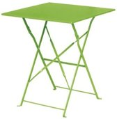 Bolero opklapbare stalen vierkante tafel groen