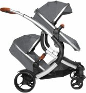 Tweeling kinderwagen X-adventure Go4 Two in One Grijs