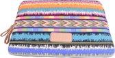 Lisen Laptop Sleeve tot 10 inch - 27 x 21 x 1,5cm - Bohemian Style - Audio Music - Multicolor