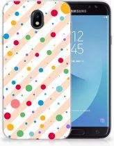 Samsung Galaxy J7 2017   J7 Pro TPU siliconen Hoesje Design Dots
