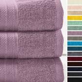 Lumaland - Handdoeken - Set van 3 badhanddoeken - 70 x 140 cm - Lavendel