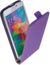 Samsung Galaxy S6 Leder Flip Case hoesje Paars