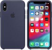 Apple iPhone XS Siliconen Case - Donkerblauw