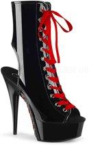Pleaser Enkellaars -39 Shoes- DELIGHT-1016FH Zwart