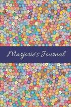 Marjorie's Journal: Cute Personalized Name College-Ruled Notebook for Girls & Women - Blank Lined Gift Journal/Diary for Writing & Note Ta