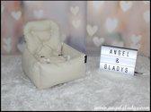 Autostoel voor hond Cosy Car Deluxe Angel & Gladys crème 45x35x20/45cm