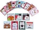 Kerstkaarten Kerstfiguurtjes - 16 stuks