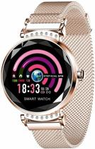 SmartWatch -Activity Tracker met Hartslagmeter - Vrouwen Horloge - Mode Fashion - Stappenteller - Modern - Goudkleurig