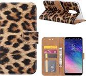 Xssive Hoesje voor Samsung Galaxy A6 Plus 2018 A605 - Book Case - Luipaard