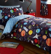 1 persoons dekbedovertrek planets