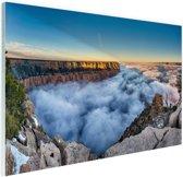 Wolk Grand Canyon bij zonsopgang Glas 120x80 cm - Foto print op Glas (Plexiglas wanddecoratie)