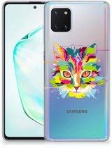 Samsung Galaxy Note 10 Lite Telefoonhoesje met Naam Cat Color