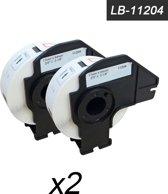 2x Brother DK-11204 Compatible voor Brother 's range of QL printers,17mm * 54mm