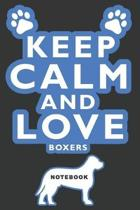Keep Calm and Love Boxers Notebook
