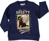 Blue seven babykleding - Blauwe sweater met hond - Maat 74