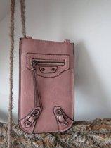 Stoer telefoon tasje (roze)
