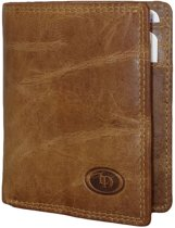 Leather Design -Figuretta-Billfold met Kaarthoudervak Bruin