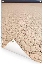 Close-up beeld van de vorm van een zoutvlakte in El Leoncito in Argentinië Tuinposter 80x120 cm - Tuindoek / Buitencanvas / Schilderijen voor buiten (tuin decoratie)