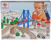 EH - TRAIN - TRACK WITH BRIDGE(55PCS)