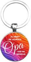 Sleutelhanger Glas - Leukste Opa Van De Wereld