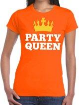 Oranje Party Queen t-shirt voor dames XL