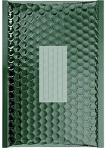 100 x Groen metallic luchtkussen enveloppen G/4 - 330x240mm - zelfklevende strip - Office Depot / Viking