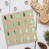 Rustic Christmas – Servetten met groene bomen