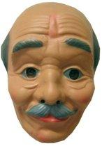 Masker plastic opa kaalhoofd en snor