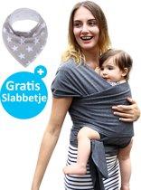 Baby Garden draagdoek grijs | Ergonomisch | Original | Gratis slabbetje
