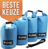 Drybag.store - waterdichte tassen set - 5l, 10l, 20l, 30l blauw