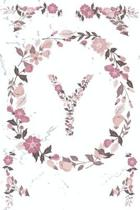 Y Monogram Journal: Personalized Initial V, Motivational Heading Prompt - Lined Floral Notebook - Journal - Diary for Reflection