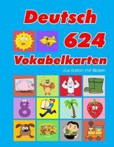 Deutsch 624 Vokabelkarten aus Karton mit Bildern: Wortschatz karten erweitern grundschule f�r a1 a2 b1 b2 c1 c2 und Kinder