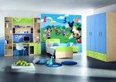 Fotobehang Disney, Micky Mouse | Groen | 152,5x104cm