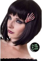 Skeleton Hand haar clip Glow In The Dark - One Size - Banned