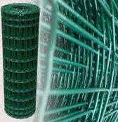 Tuingaas groen 100 cm   rol 25 m   100 x 50 mm geplastificeerd