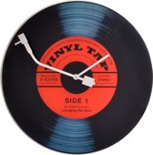 NeXtime Vinyl - Klok - Rond - Glas - Ø43 cm - Multi