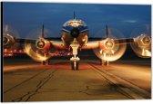 Dibond –Voorkant Vliegtuig– 40x30 Foto op Aluminium (Wanddecoratie van metaal)